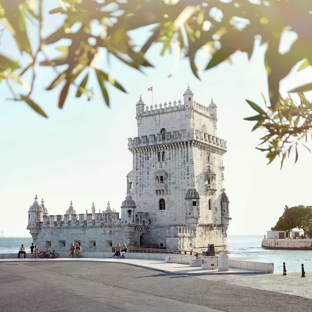 The Torre de Belem tower in Lisbon
