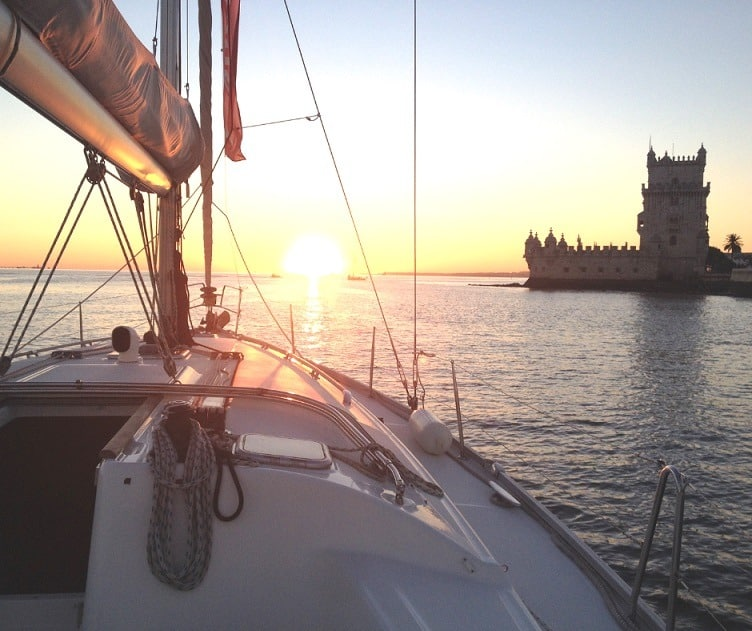 Sunset River cruise on the Tejo river in Lisbon