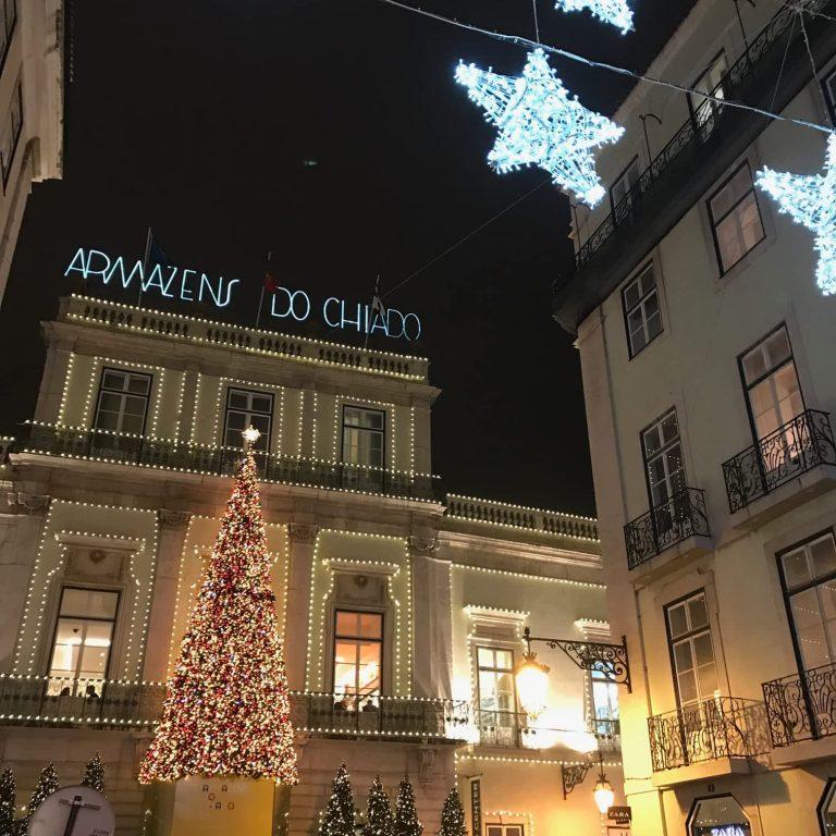 Christmas lights in Chiado