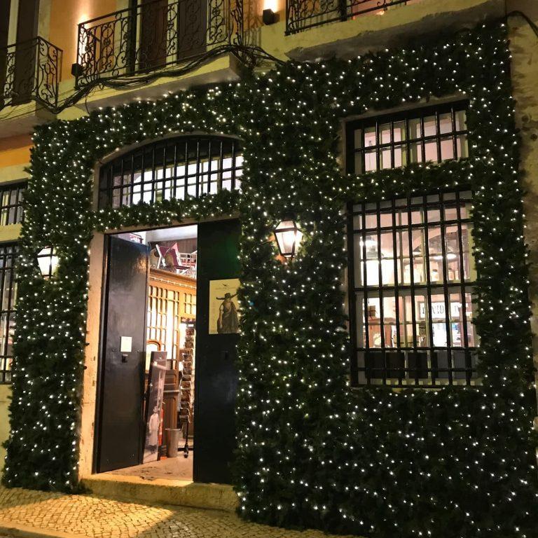 Christmas lights in Chiado, Lisbon