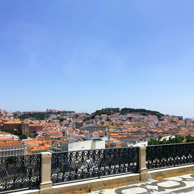 Beautiful Views from the Miradouro Sao Pedro de Alcantara, Principe Real, Lisbon