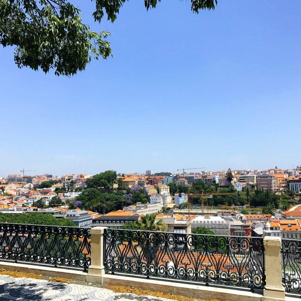 Beautiful Views from the Miradouro Sao Pedro de Alcantara, Principe Real, Lisbon