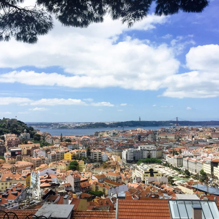 A beautiful view out over Lisbon from Graça neighbourhood