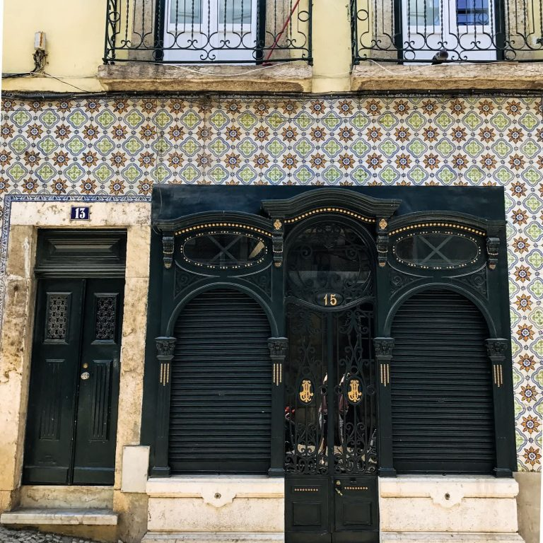 Stunning tiled building in Graça, Lisbon