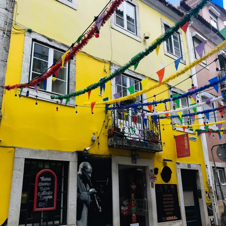 Colorful party atmosphere of Bairro Alto, Lisbon