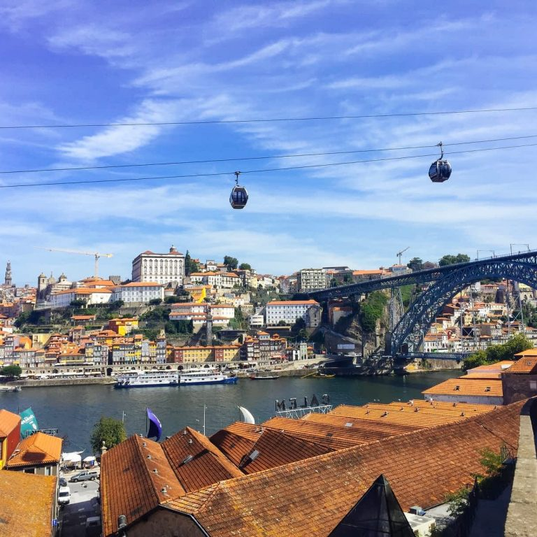 View from Porto Gaia overlooking Porto city