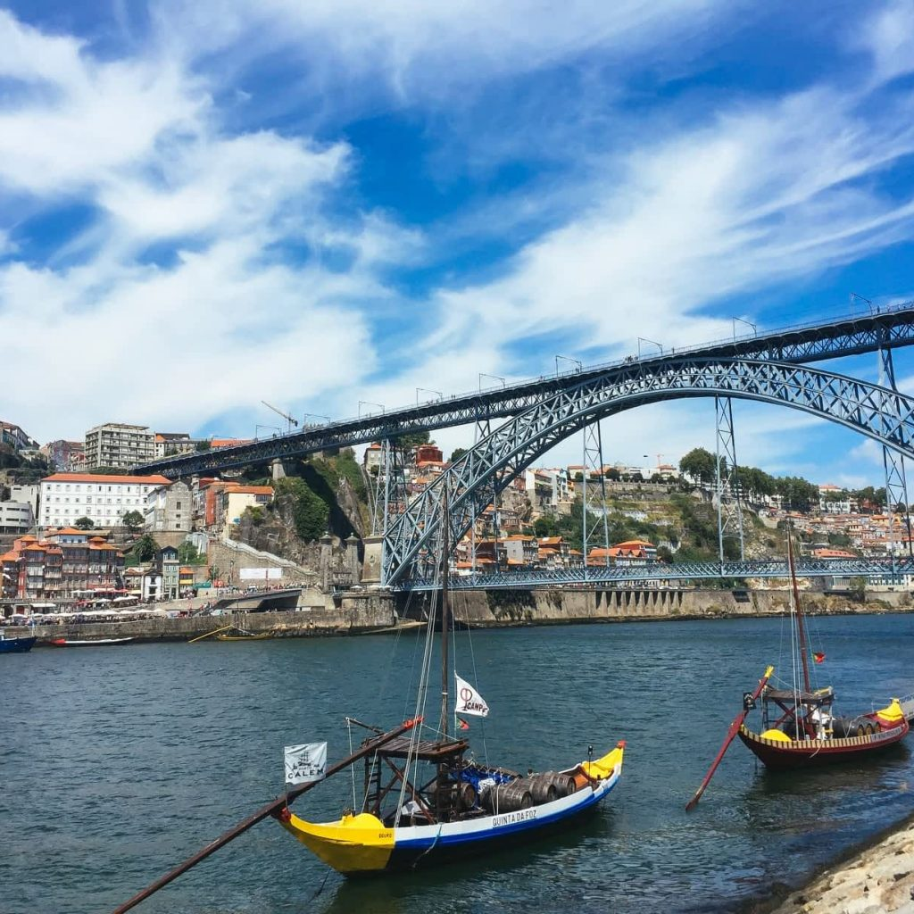 The iconic Dom Luis I Bridge in Porto