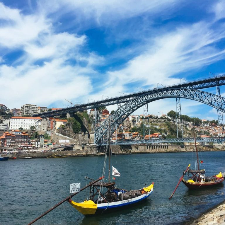 The iconic Dom Luis I Bridge in Porto