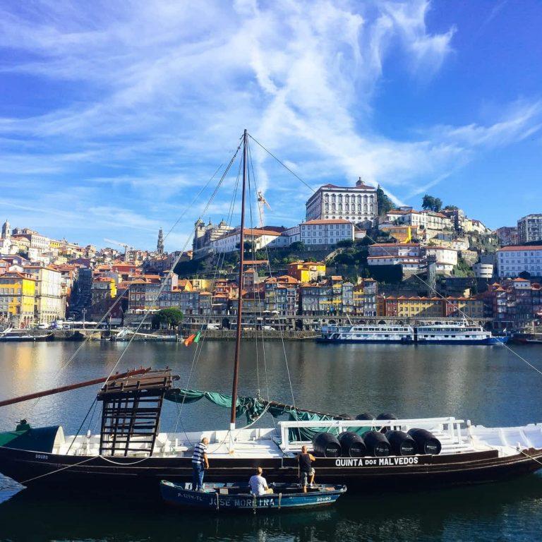 View of Porto's Cais da Ribeira