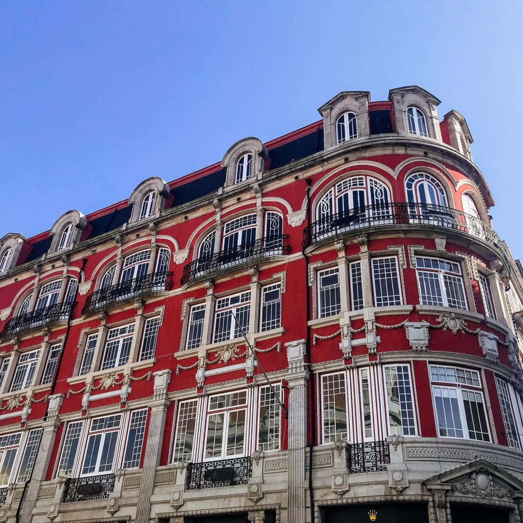 Building on Santa Catarina Shopping Street in Porto