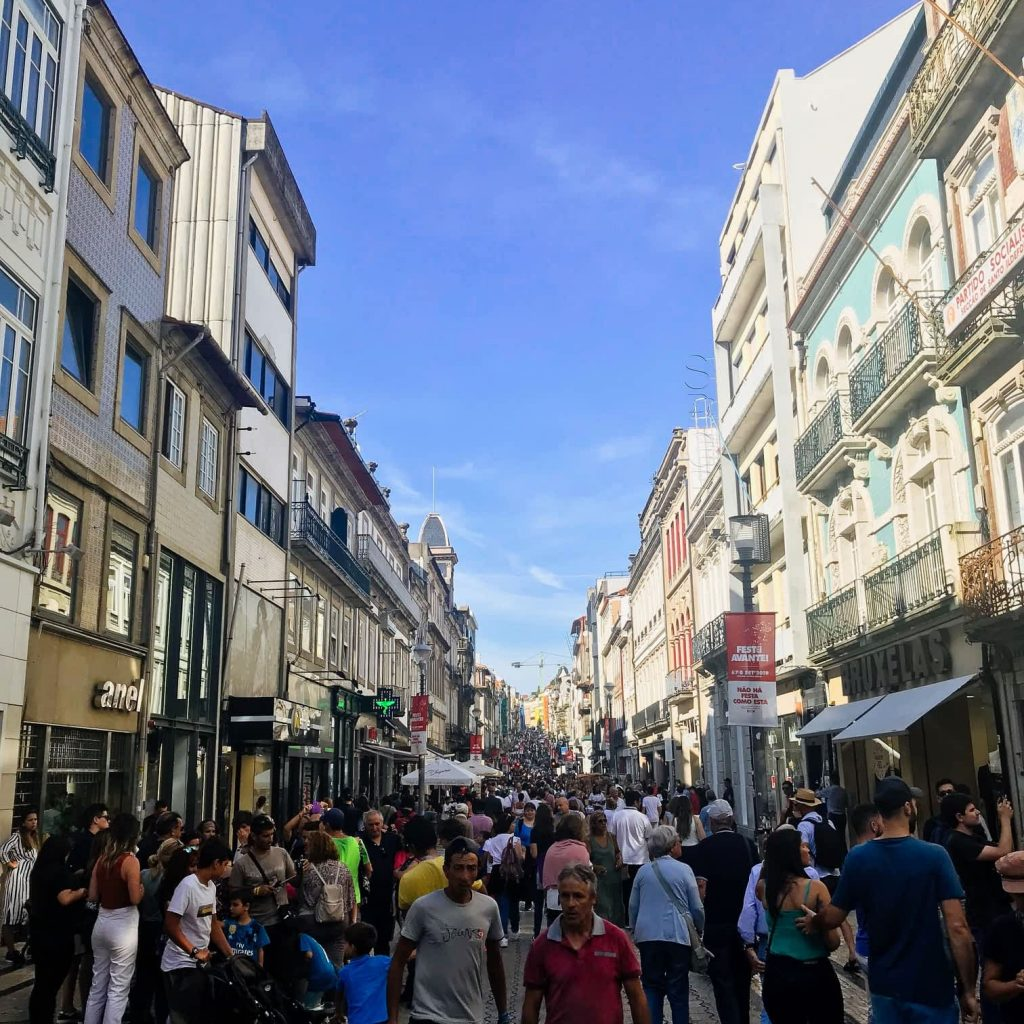 Busy Santa Catarina Shopping Street