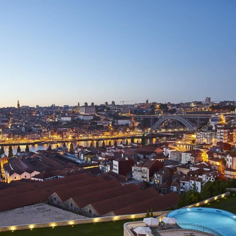 View overlooking Porto from the Yeatman