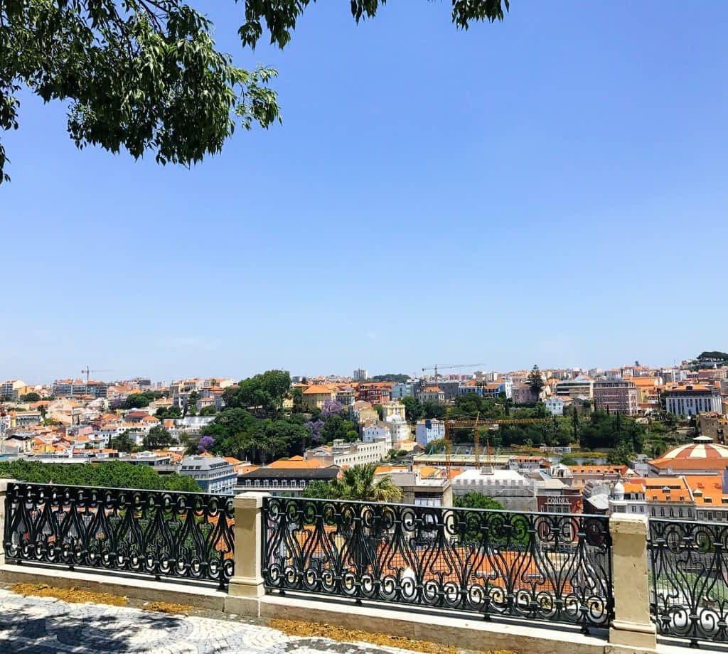 Miradouro de São Pedro de Alcântara View in Lisbon