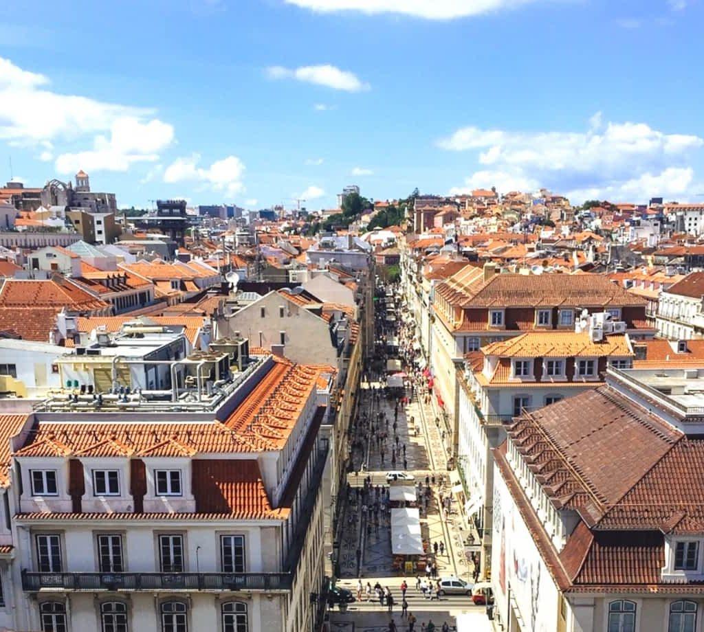 Rua Augusta Arch view of Lisbon