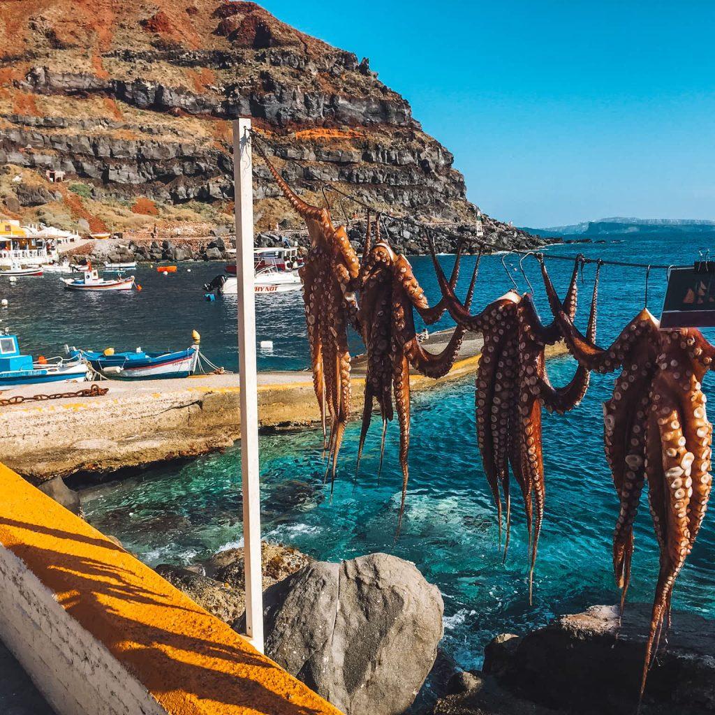 Santorini, Amoudi Bay