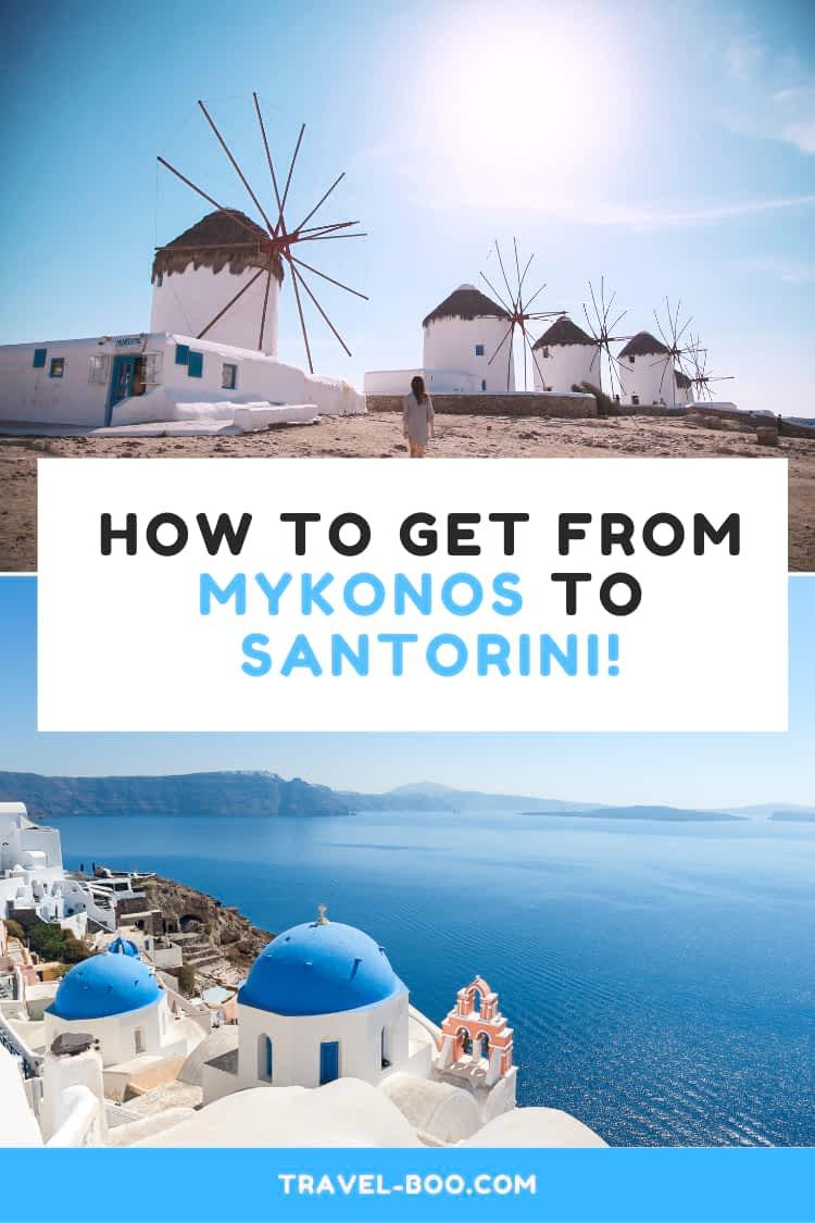 Best way to get from Mykonos to Santorini, Greece Travel, Greece Travel Guide, Greece Travel Itinerary, Mykonos Travel, Mykonos Greece, Mykonos Travel Guide, Santorini Travel, Santorini Travel Guide, Santorini Greece, Mykonos Greece