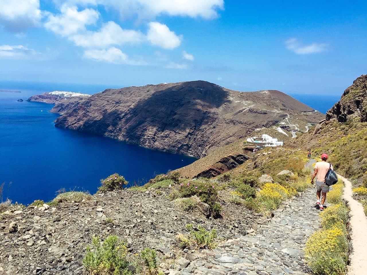 Views of the Fira to Oia hike