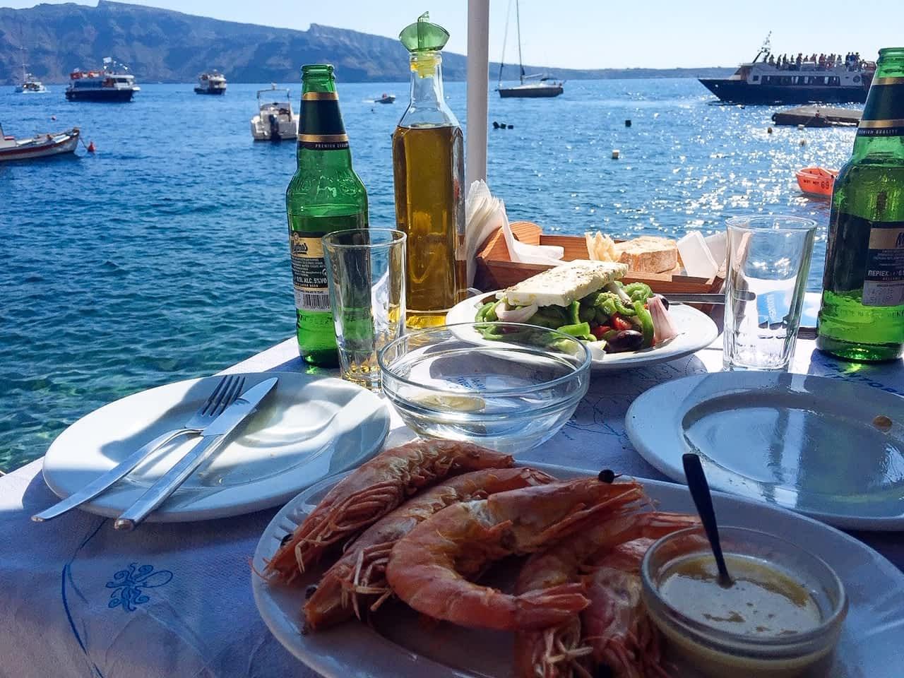 Fresh seafood, Amoudi Bay in Oia, Reasons to visit Santorini