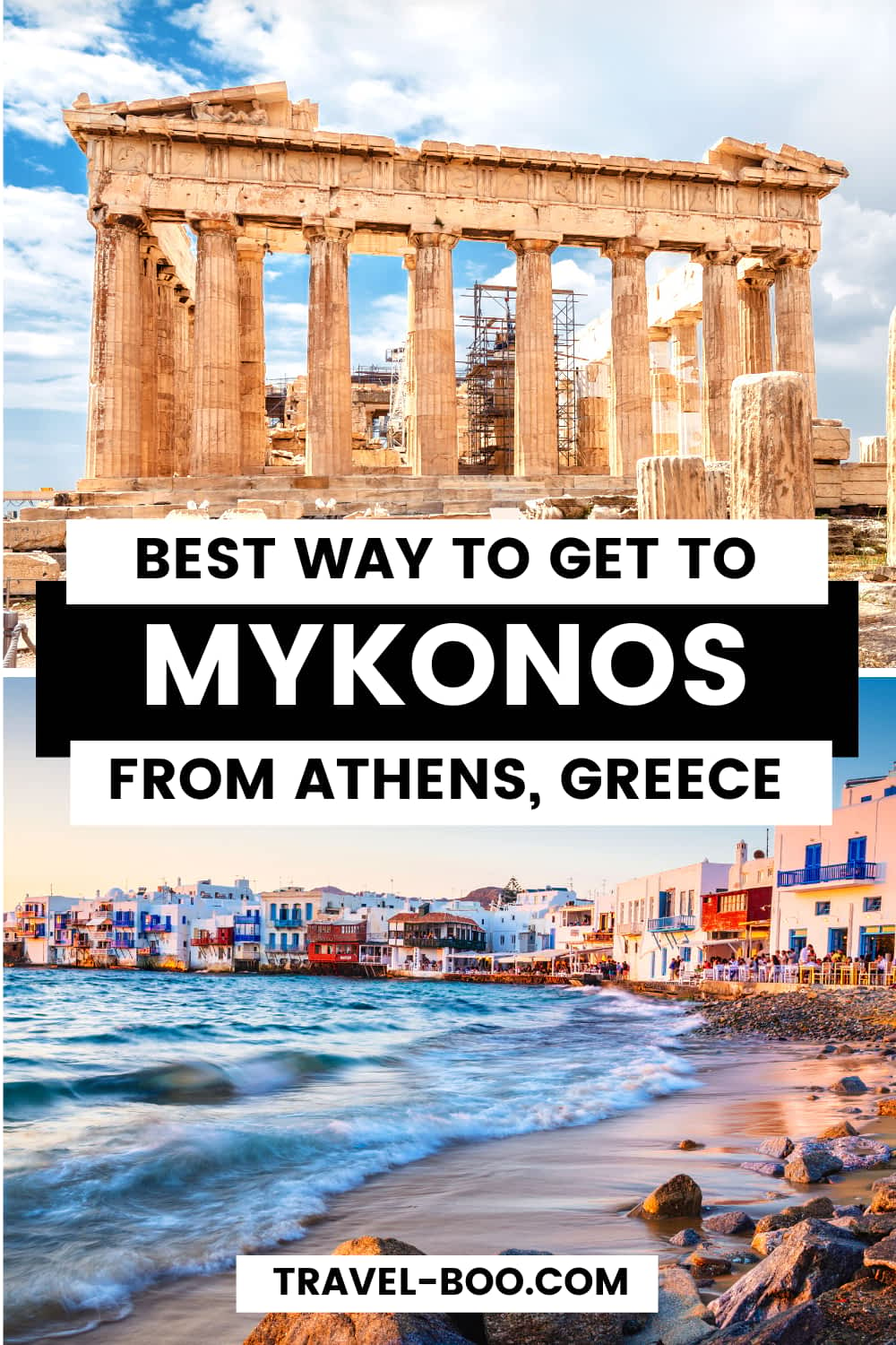 How to get to Mykonos from Athens #greecetravel #greecetravelislands #athens #mykonos | Greece Travel | Greece Travel Guide | Greece Travel Islands | Athens Travel | Athens Travel Guide | Mykonos Travel | Mykonos Travel Guide | Europe Travel | European Travel Destinations