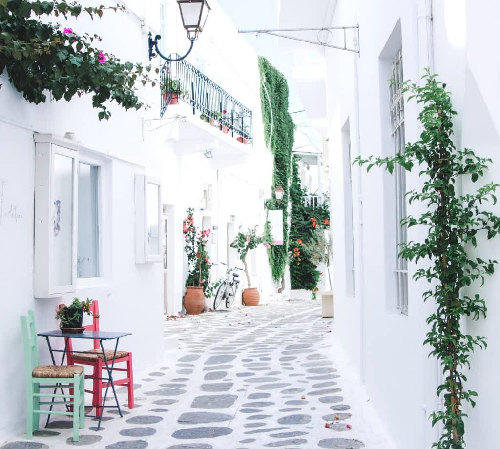Pathway in Paros, Greece By Sights Better Seen