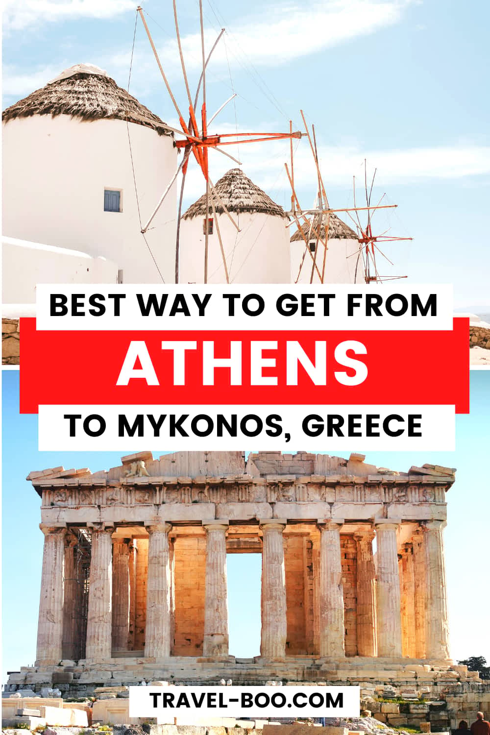 The Best Way To Get From Athens to Mykonos #greecetravel #greecetravelislands #athens #mykonos | Greece Travel | Greece Travel Guide | Greece Travel Islands | Athens Travel | Athens Travel Guide | Mykonos Travel | Mykonos Travel Guide | Europe Travel | European Travel Destinations