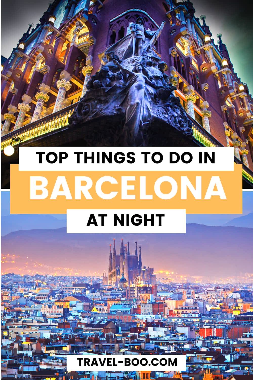 Top Things to do in Barcelona at night. Check out this guide on all the top things to do in Barcelona at night-time. #barcelonaspain #barcelona #spaintravel #barcelonatravel | Barcelona Spain | Barcelona | Barcelona Spain Things to do | Spain Travel Guide | Spain Travel Things to do | Europe Travel | Europe Travel Guide