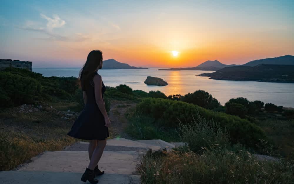 Sunset at Temple of Poseidon