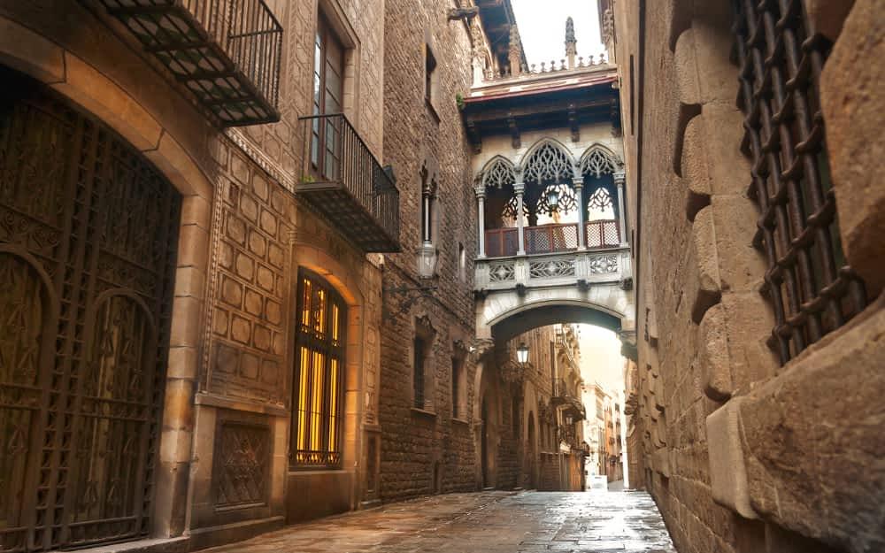 Barri Gotico in Barcelona