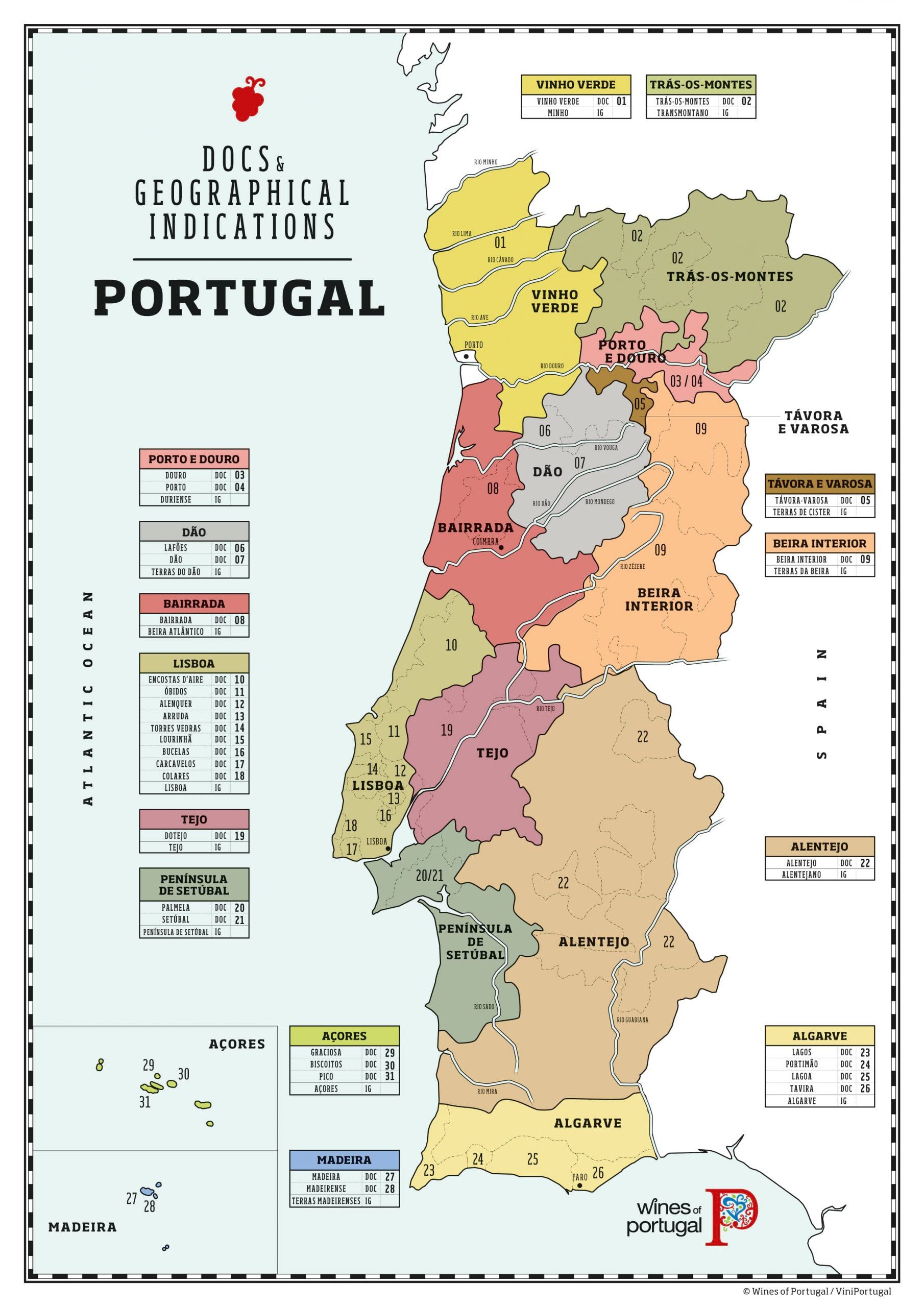Portugal Wine Regions - Portugal Wine Map
