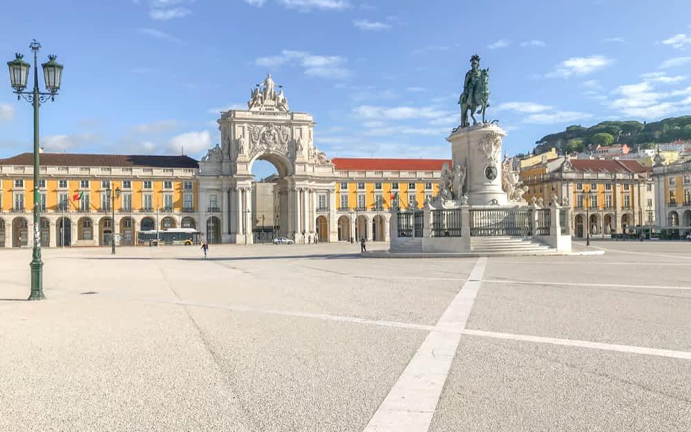 Praca do Comercio - landmarks in Portugal