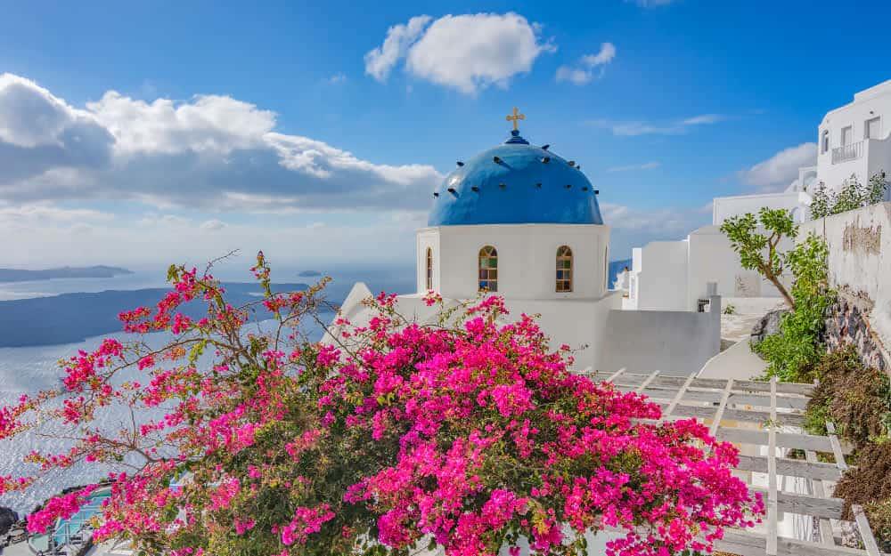 Santorini weather in October