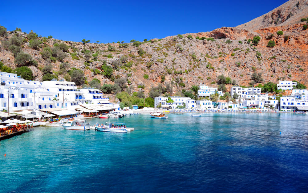 Village of Loutro in Crete © Image Courtesy of singidavar from Getty Images by Canva