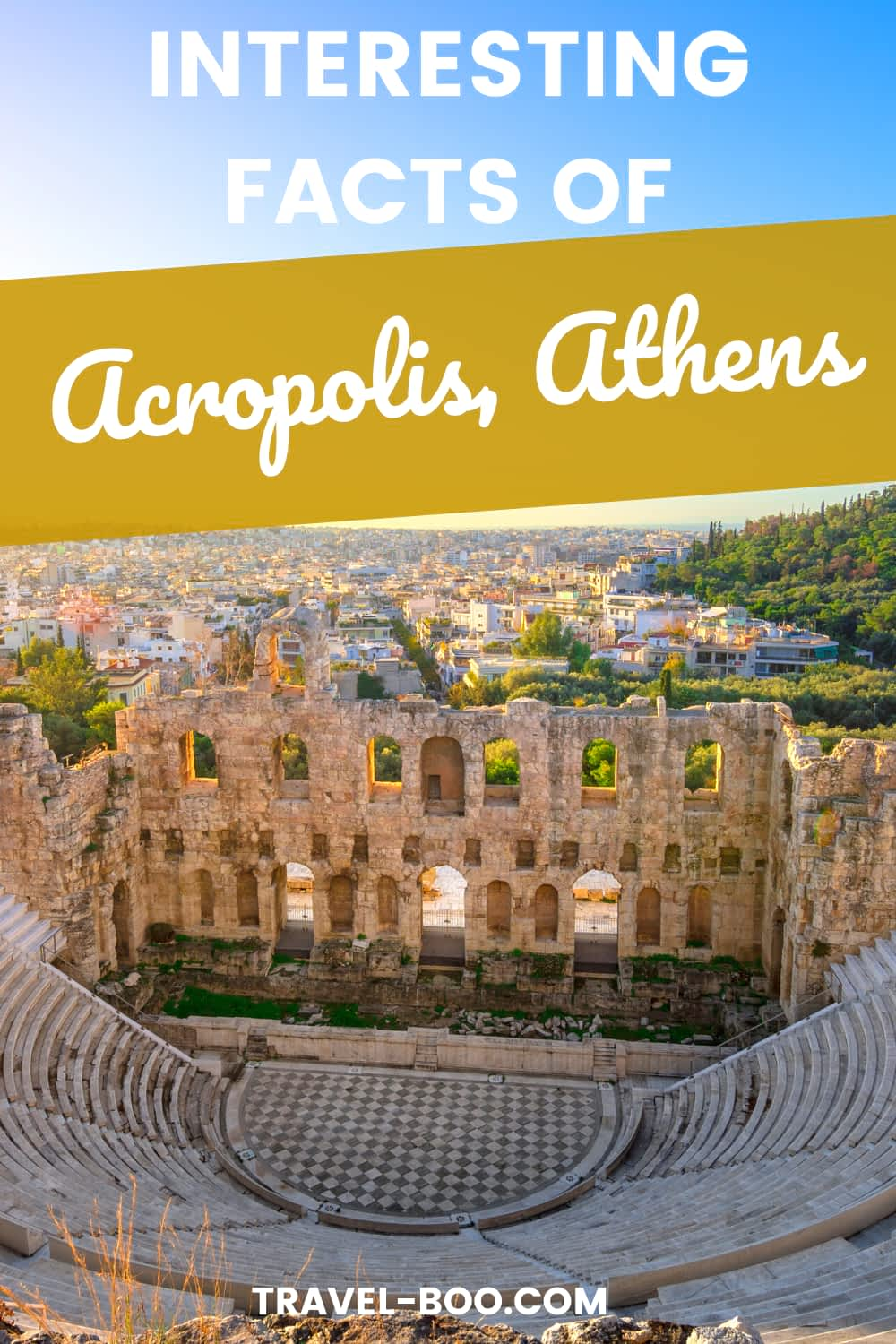 Visiting Athens? It doesn't get more inconic than the Acropolis in Athens. Read this post outlining 9 interesting facts of the Acropolis. Athens Travel, Athens Travel Guide, Athens Travel Tips, Athens Travel Things to do, Athens, Greece Travel Guide, Greece Travel, Greece Travel tips. #athenstravelguide #greecetravelguide #greecetravel #athenstravel