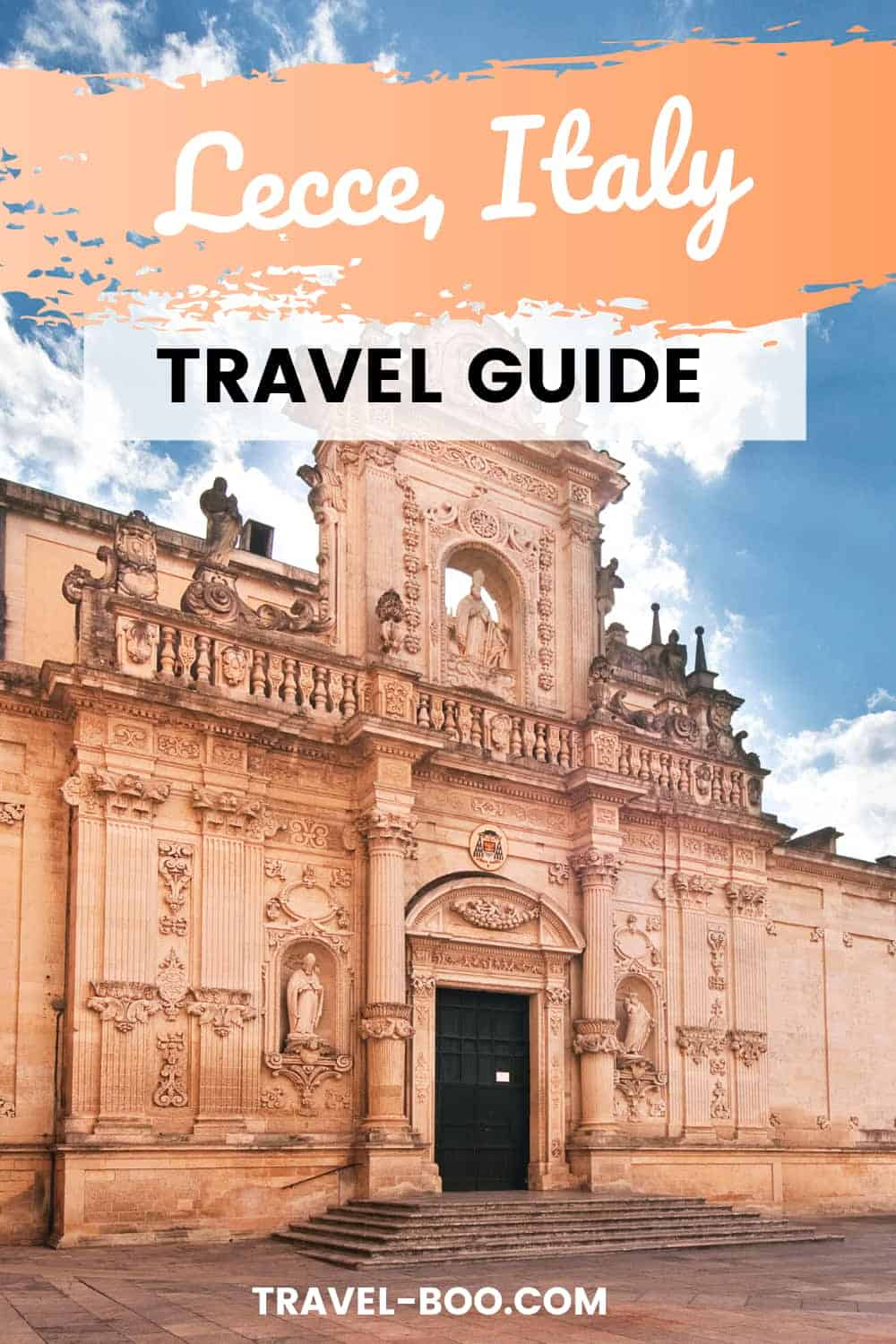 Visiting Puglia in Italy? Then don't miss out on gorgeous Lecce! In this Lecce travel guide I outline all you need to know to help plan your perfect trip to Lecce. Italy Travel, Italy Travel Guide, Italy Travel Destinations, Italy Travel Tips, Italy Travel Things to do, Lecce Italy, Lecce Travel. #lecce #leccetravel #italytravel #italytravelguide