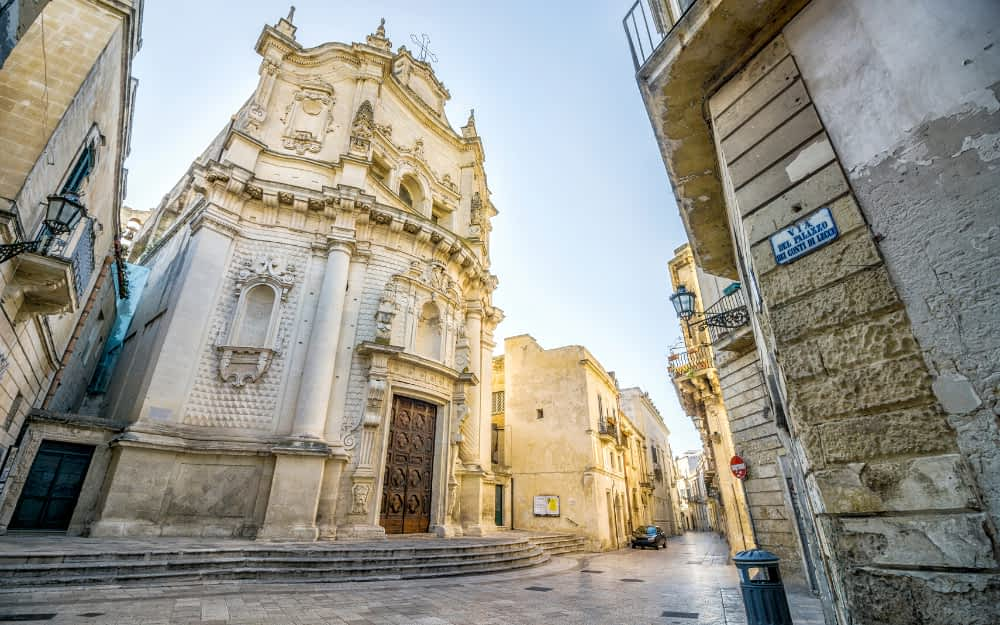 Lecce Old Town Street Scene