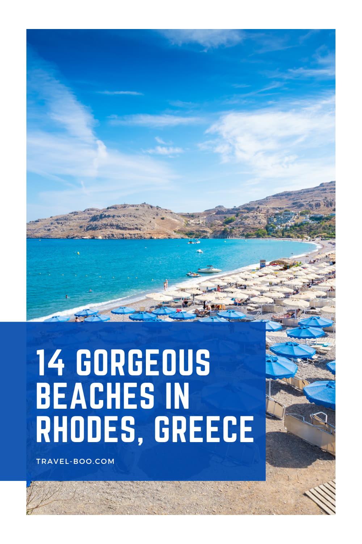 14 Best Beaches in Rhodes, Greece! Greece Travel, Greece Travel Islands, Greece Travel Guide, Rhodes Greece, Rhodes Travel Greece, Beaches in Greece, Beaches in Rhodes, Greece Vacation, Greece Itinerary.