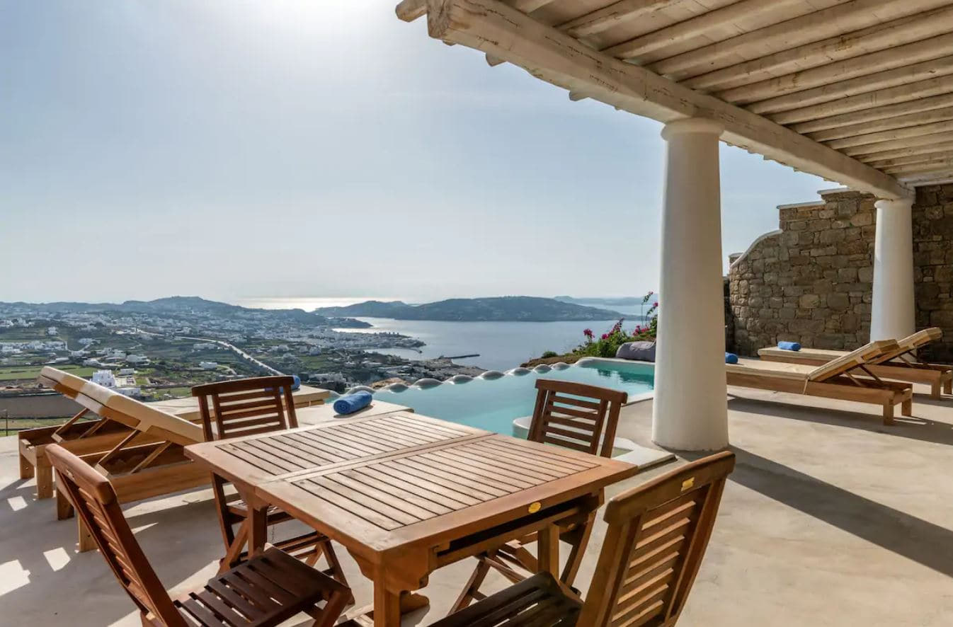 17. Stylish Mykonos Airbnb With Private Infinity Pool