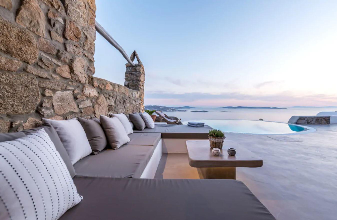 19. Elegant Airbnb in Mykonos With Wonderful Outdoor Terrace & Spaces