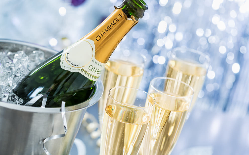 2. Champagne - French sparkling wine