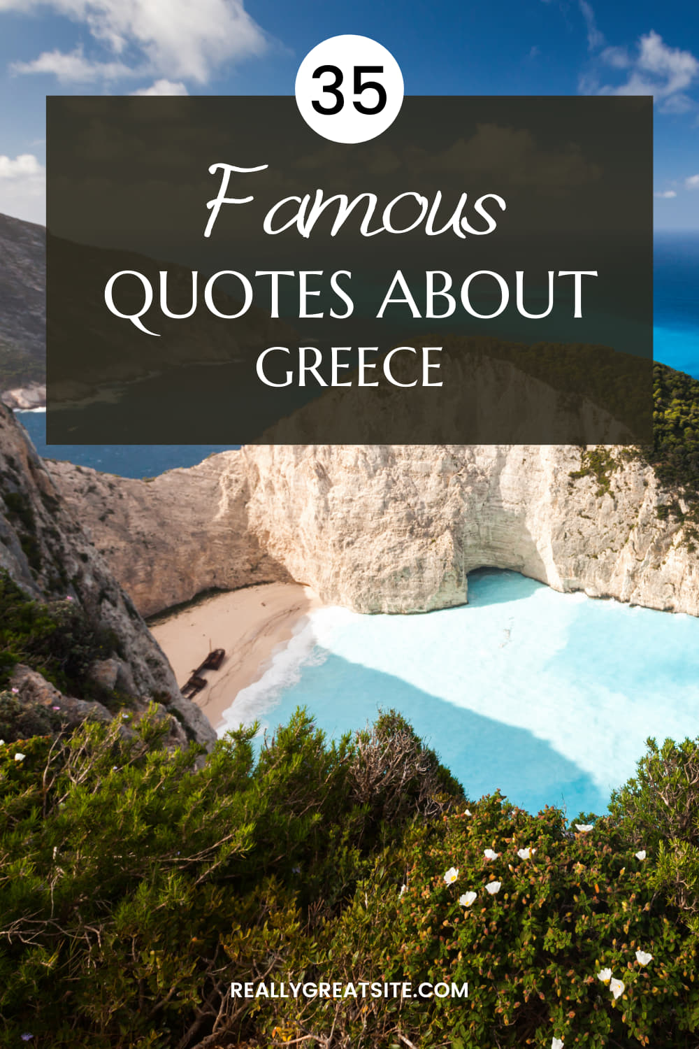 35 Beautiful Greece Quotes - Famous and Inspiring Quotes on Greece! Greece Travel Quotes, Greece Travel, Greece Travel Itinerary, Travel to Greece, Greece Travel Islands, Quotes aboout Greece.