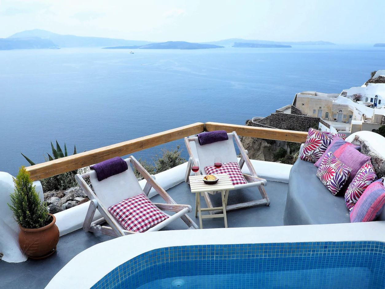 8. Traditional Oia Cave House with Private Plunge Pool
