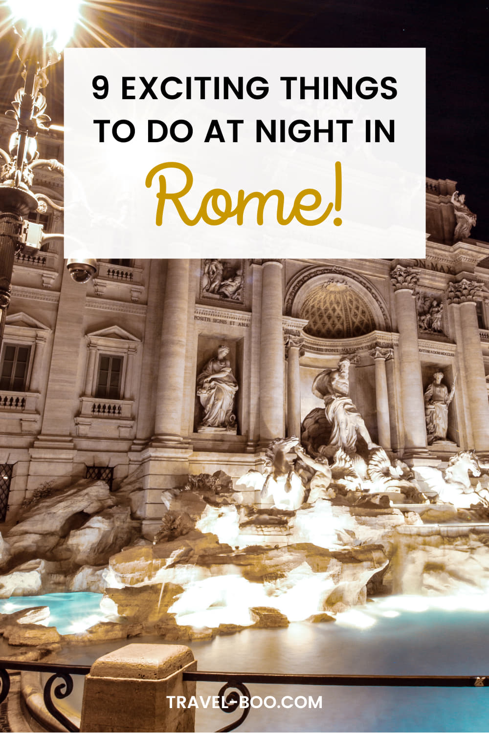9 Exciting Things to do in Rome at Night! Rome Travel, Rome Italy, Rome Travel Guide, Rome Travel Tips, Rome Itinerary