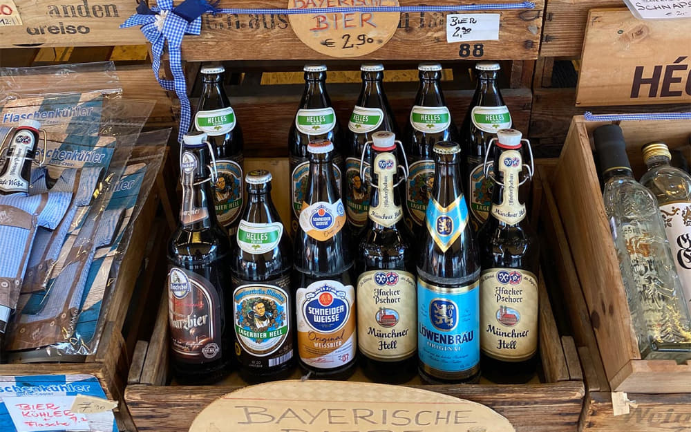 Bavarian beers in Munich © Photo by The Globetrotting Detective