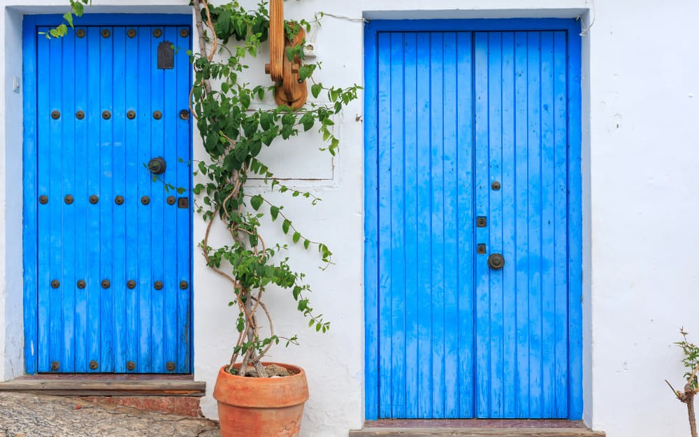 Beatuiful colourful doors of Frigiliana