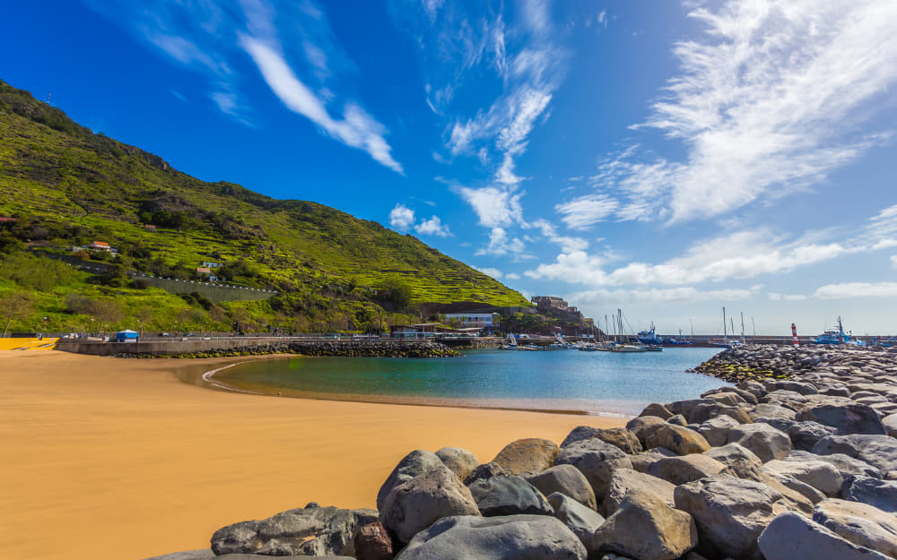 Machico Bay Beach in Madeira