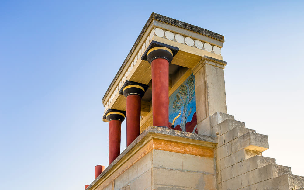 Palace of Knossos - landmarks in Greece