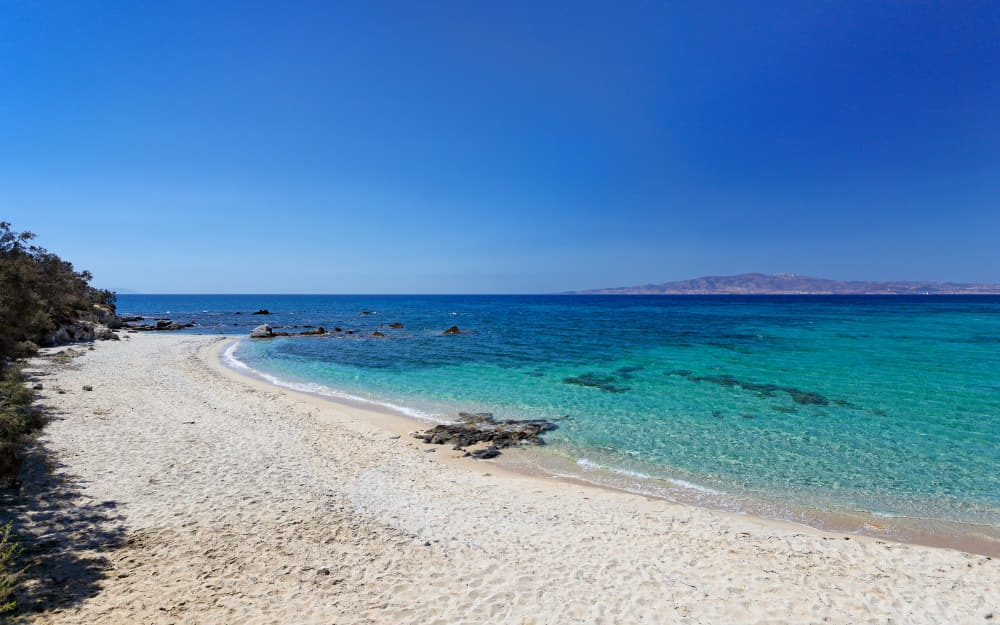 Kastraki Beach in Naxos © Image Courtesy of Constantinos-Iliopoulos from Getty Images by Canva