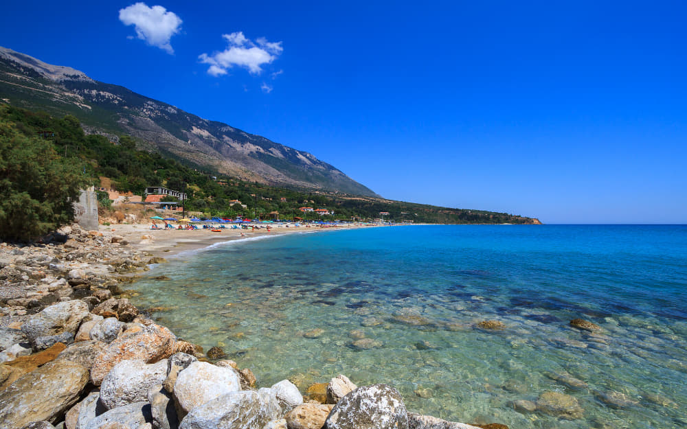 Lourdas Kefalonia Beach © Image Courtesy of JamesEarle from Getty Images by Canva