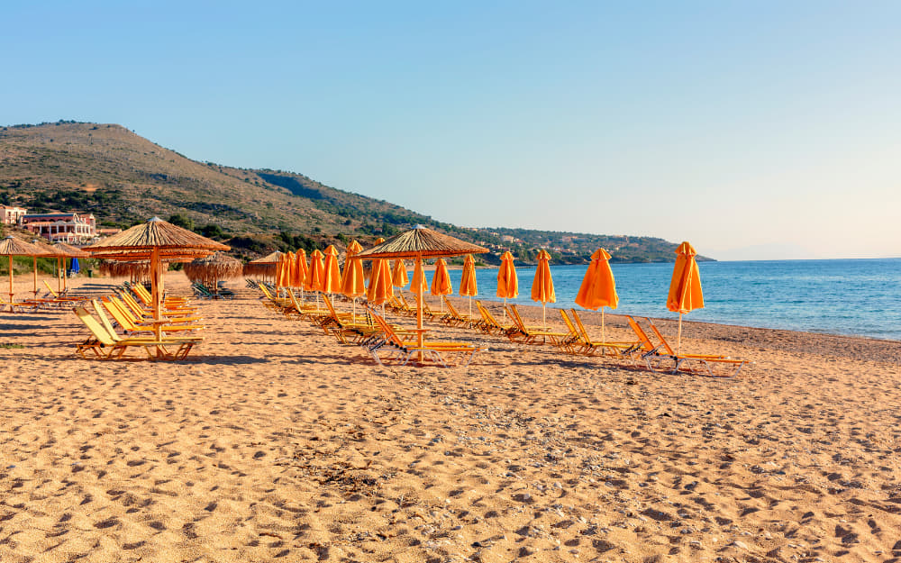 Skala Beach of Kefalonia © Image Courtesy of _ultraforma_ from Getty Images Signature by Canva