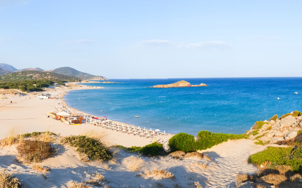 Chia Beach Sardinia © Photo by elisalocci from Getty Images by Canva
